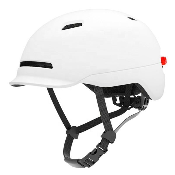 Scooter helmet with led light