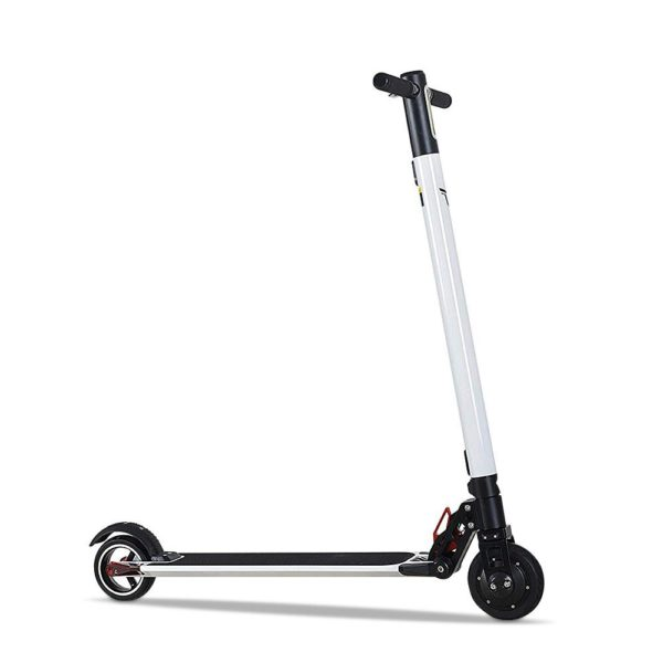 Electric Scooter, 6 Inch Kick Scooter, Max Speed 25 km/h Electric Folding Scooter with Display and LED Indicator Light for Adult and Teenager (New Version-White)